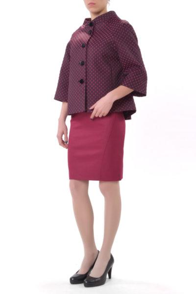 Комбинация от късо манто и вталена женствена рокля